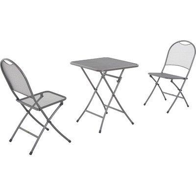 MWH Das Original FTS90043+FZS90039 Gartenmöbel-Sets, Café Latte, grau günstig bestellen
