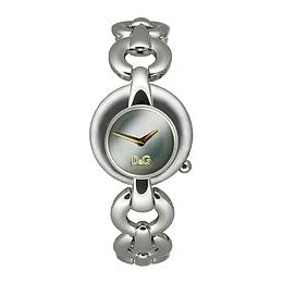 DOLCE AND GABBANA SILVER BRACELET LADIES WATCH -  DW0456