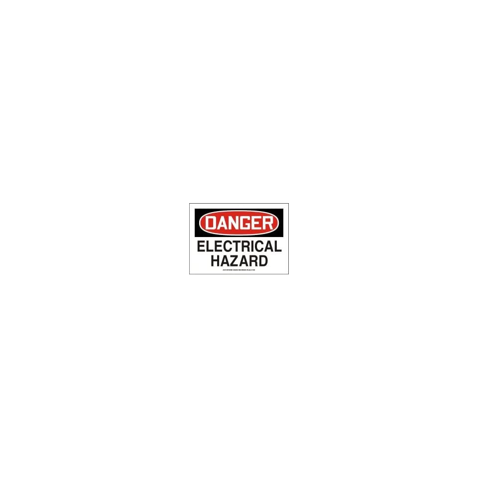 DANGER Labels ELECTRICAL HAZARD Adhesive Vinyl   5 pack 5 x 7