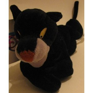 "Disney Bean Bag Plush Jungle Book Bagheera 8"" - 1"