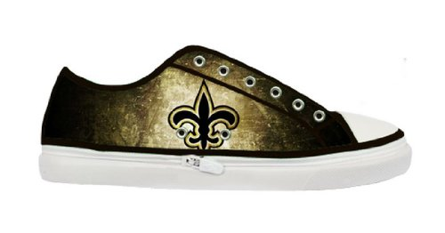 Lady's Nonslip Canvas Shoes with Rubber Soles for Saints Fans at Amazon.com
