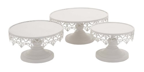 Deco 79 96998 Metal Cup Cake Stands (Set of 3), 8