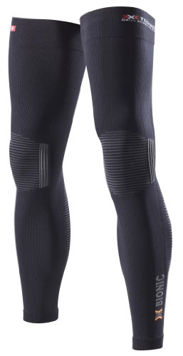 X-Bionic adulto funzione abbigliamento caldo Biking OW Leg DX SX No Seam, Unisex, Funktionsbekleidung Biking OW Leg Warmer DX SX No Seam, Nero/antracite, XS