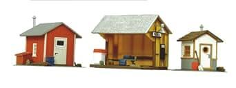 Life-Like Trains  HO Scale Building Kits - Trackside Shanties