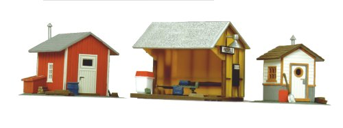 Life-Like Trains  HO Scale Building Kits - Trackside Shanties (Ho Model Train Building Kits compare prices)