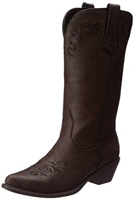 Roper Women's Scrolls and Vines Western Boot,Brown,6 M US