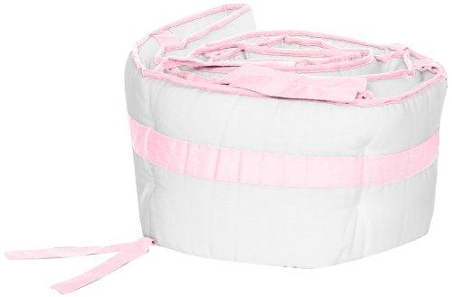 Baby Doll Modern Hotel Style Crib Bumper, Pink