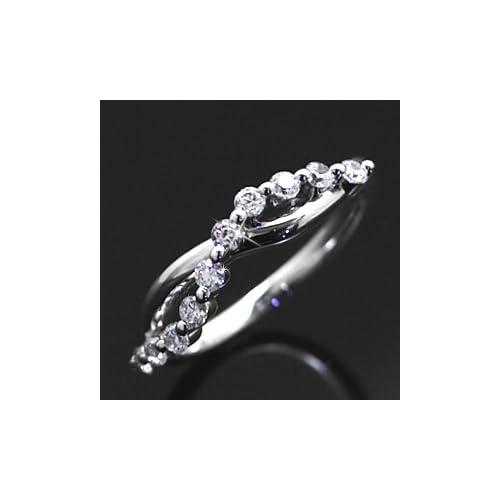 スイートテンリング ダイヤモンド CZ プラチナカラー レディース 指輪 ring プレゼント ギフト TypeA・9号