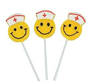 Smiley Face Nurse Lollipops 12ct.