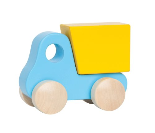 Hape Little Dump Truck Blue Push Pull Toy - 1