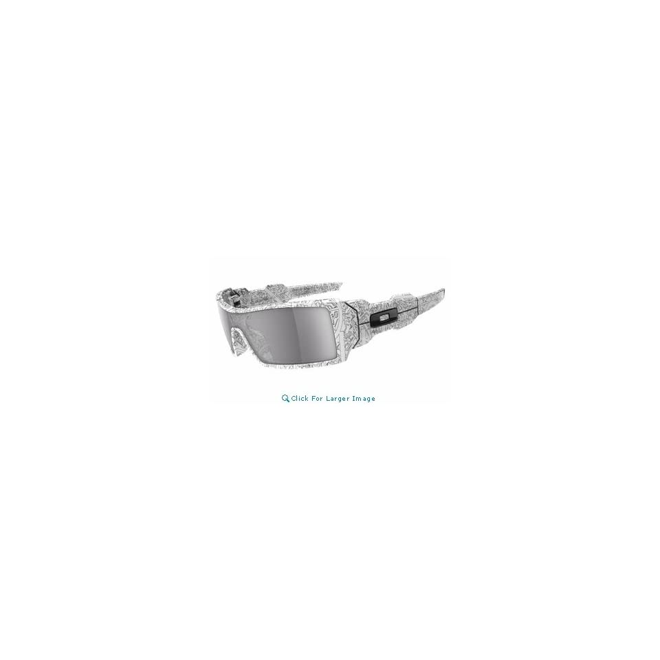 934bc4fd705c9 Oakley Oil Rig White w  Text Sunglasses Grey Lense on PopScreen