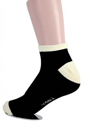 Valentine Women's 12 Pack Compression Cotton Liner Ankle Crew Socks
