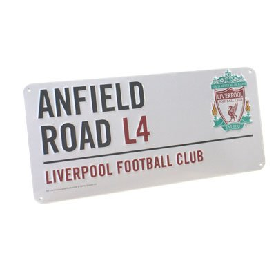 Liverpool F.C. Metal Street Sign - Ainfield Road