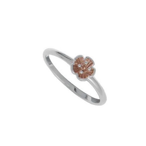 Boma Tiny Rose Gold Plated Sterling Silver Flower Ring (size: 5)