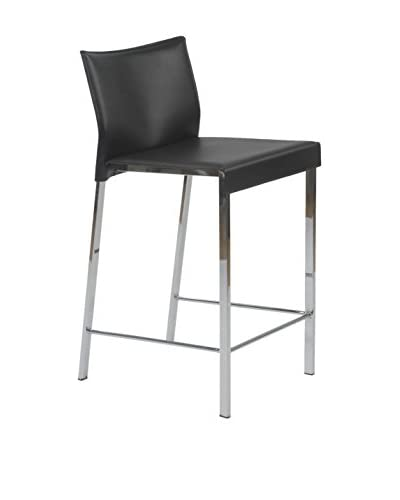 Euro Style Riley-C Counter Stool, Black