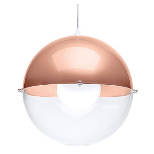 Koziol Pendelleuchte Orion solid kupfer/transparent