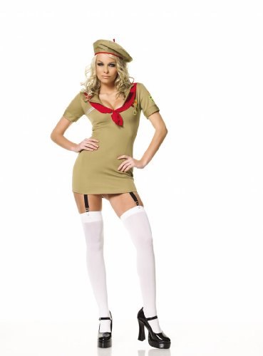 Trooper Girl Womens Military Costume 3 Pieces Small Medium Large