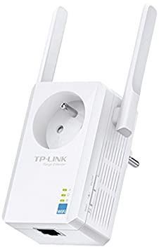 TP-LINK TL-WA865RE Répéteur Wi-Fi N 300Mbps Version Français (1 port, prise intégrée, compatibilité universelle, installation facile)