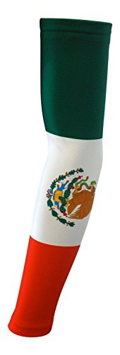 Nexxgen Sports Apparel Moisture Wicking Compression Arm Sleeve (Single) - Men, Women, Adult & Youth - 40 Colors - Digital Camo & Elite (Small, Mexico Flag)