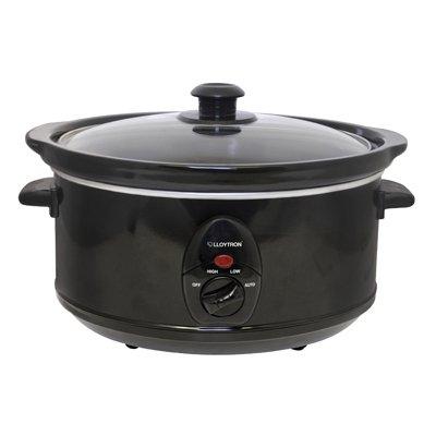 Lloytron- 3.5l Oval Slow Cooker - Ceramic Black