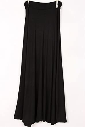 Womens Yetts Solid Maxi Skirt (Small, Black)