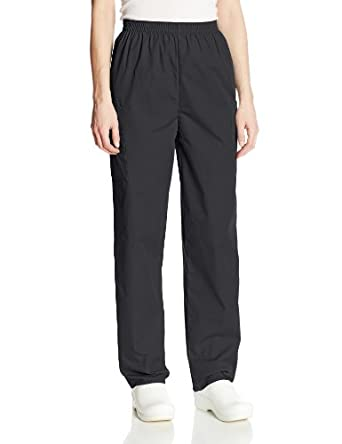 Cherokee Women's Petite Workwear Scrubs Pull-On Cargo Pant, Black, X-Small-Petite
