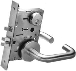 Yale 8867fl Dormitory Exit Mortise Lock Lever Trim Door