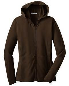 Port Authority Ladies Modern Stretch Cotton Full-Zip Jacket, dark chocolate brown, XXX-Large