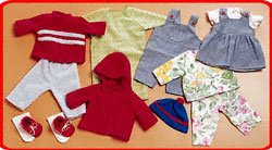 Childcraft Doll Clothes for 16 to 18 inch Dolls - 10 Pieces