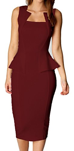 made2envy Bodycon Midi Peplum Dress