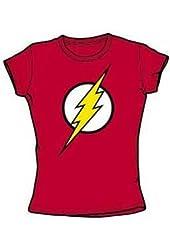 The Flash Logo Juniors Babydoll T-Shirt