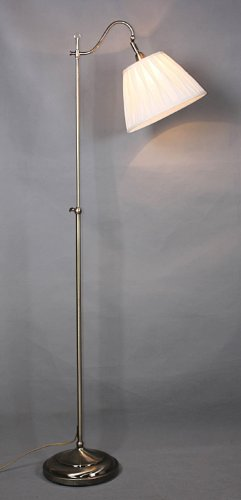 Floor lamp in Antique brass with shade CTDA