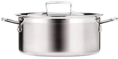 Le Creuset 3-Ply Stainless Steel Shallow Casserole, 24 cm