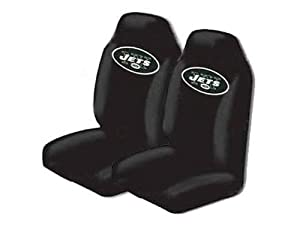 Set of 2 NFL Licensed Universal-fit Front Bucket Seat Cover - New York Jets
