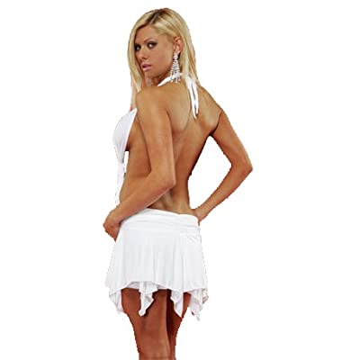 Plus Size Dress: Hot Ass Teens in a Forplay Sexy Mini Dress w/ Ruffled Edges
