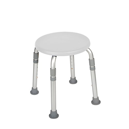 Drive Medical Adjustable Height Bath Stool, White front-912361