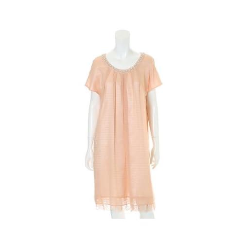 (クリアインプレッション)Clear Impression dress パールビジュー付き裾レースワンピース with4月号掲載 ピンク 03