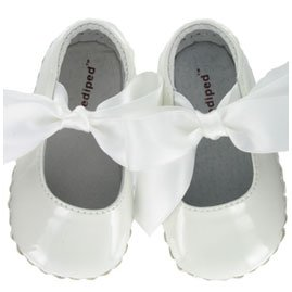 Pediped Originals * Faith -- White * Soft Leather-Soled Shoes! NEWBORN