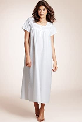 Pure Cotton Dobby Spot Nightdress