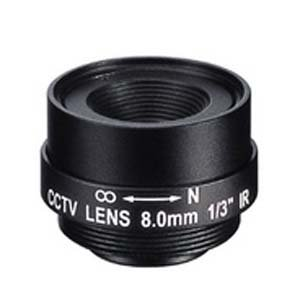 "Okina 8.0mm 1 Megapixel Fixed Iris F1.8 1/3"" CS Mount Lens"