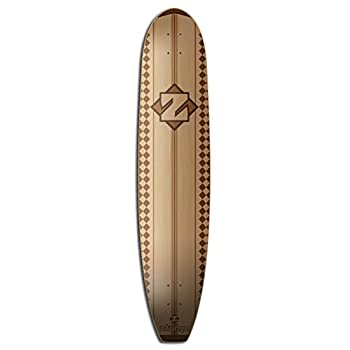 ZtuntZ Skateboards Vintage Brown Stain Longboard Deck, 44.5-Inch, Brown/Natural