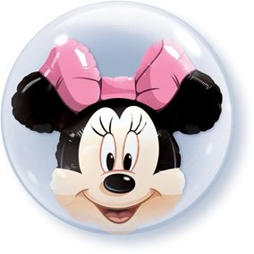 "PIONEER BALLOON COMPANY Minnie Mouse Double Bubble, 24"", Multicolor"