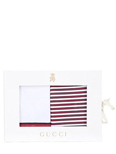 Gucci-Bavaglino Unisex, 2 pezzi, confezione regalo, colore: bianco/rosso BNWT cotone Made in Italy