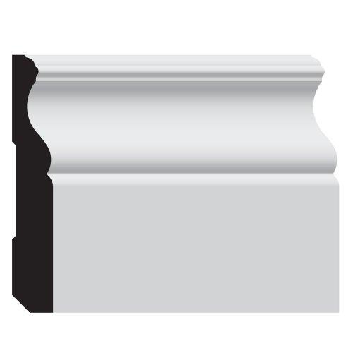 Nucasa UL203BP-8 Baseboard Molding, Primed Ultralite, .5625-Inch by 4.125-Inch by 96-Inch, 4-Pack