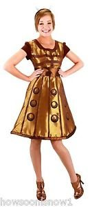 Women's Doctor Who Gold Dalek Dress Halloween Party Costume Girl S/M New in Pkg (Doctor Candy Jar compare prices)