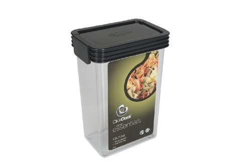 Click Clack Kitchen Essentials 1.25 Quart Airtight Container, Charcoal Lid (Click Clack Containers Set compare prices)