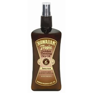 Hawaiian Tropic Golden Tanning Dry Oil Sunscreen SPF 6 8 Fl Oz / 237 Ml (Pack of 4)
