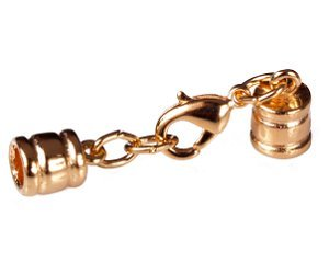 """4.4Mm (5/32"""") Gold Glu-N-Go End Caps, Jewelry Findings-Clasps"""