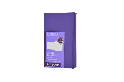 Moleskine 2014-2015 Turntable Weekly Planner, 18M, Pocket, Brilliant Violet, Hard Cover (3.5 x 5.5) (Moleskine Diaries) (Moleskine Planner Turntable 2015 compare prices)