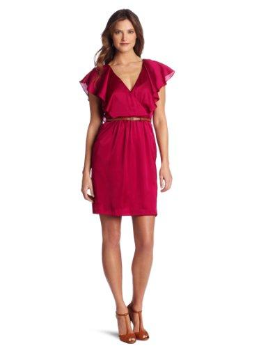 6ed0e749e27b Julie Dillon Women s Crossover Top Flutter Sleeve Dress - Wadulifashions